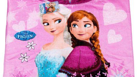 Plážová osuška s kapucí Frozen Elsa a Anna