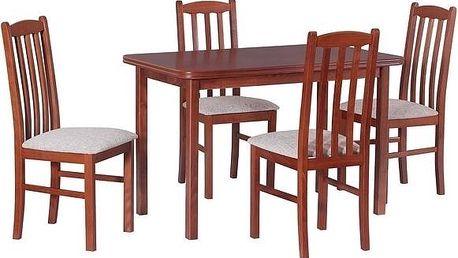 Stůl MAX 4 + Židle BOSS 12 (4ks.) - sestava DX4
