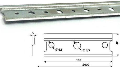 Montážní lišta pro zavěšení závěsných skříněk 200cm