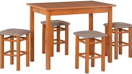 Stůl MAX 1 + Židle Taburet P (4ks.) - sestava DX7