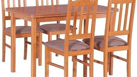 Stůl MAX 11 + Židle BOSS 3 (4ks.) - sestava DX2