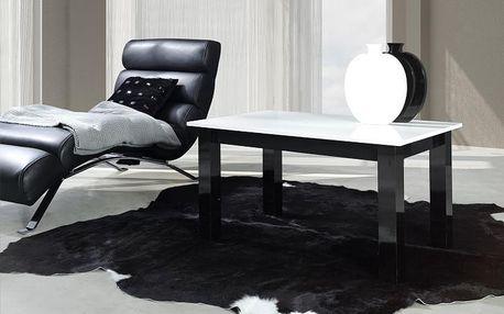 Konferenční stolek T24 bílý Černý lesk