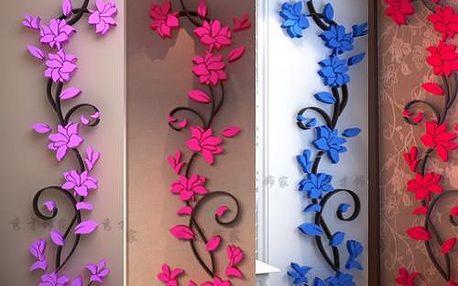 Luxusní 3D samolepka na zeď - 4 barvy - 4 velikosti