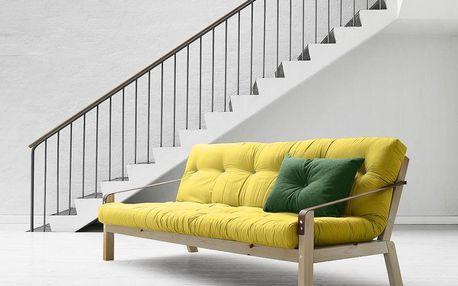Rozkládací sofa Poetry, pistacio/clear - doprava zdarma!