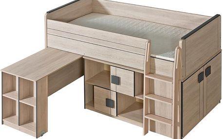GM19 Patrová postel s psacím stolem a skříní GUMI