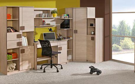 Moderní nábytek do dětského / studentského pokoje GUMI 10