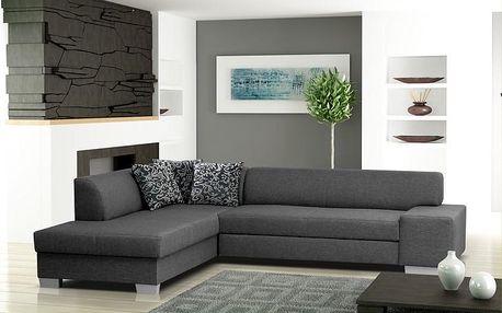 Rohová sedačka s úložným prostorem PAVLO light grey