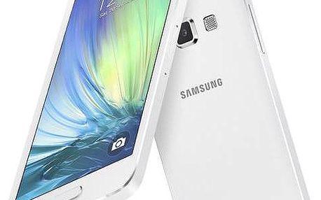 Samsung Galaxy A3 (SM-A300F) DualSIM (SM-A300FZWDETL) bílý + Voucher na skin Skinzone pro Mobil CZ v hodnotě 399 Kč jako dárek+ dárek SIM s kreditem T-mobile 200Kč Twist Online Internet (zdarma) + Doprava zdarma