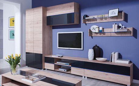 Moderní obývací stěna ADEN - sestava 6