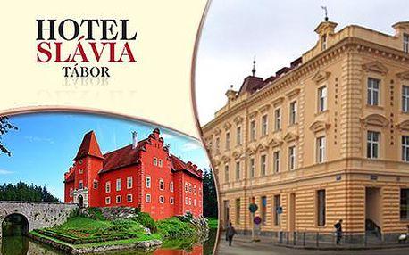 Hotel a kavárna Slávia Tábor pro 2 a 2 děti do 9 let zdarma