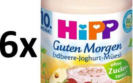 HiPP BIO Müsli, jahody a jogurt - 6 x 160g