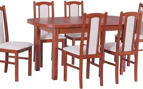 Stůl WENUS 1 + Židle BOSS 7 (6ks.) - sestava DX16