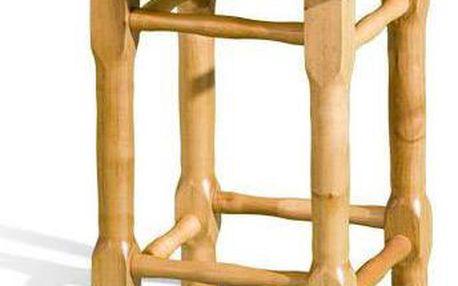 Taburet dřevěný