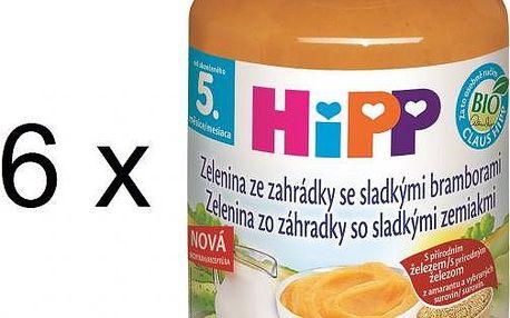 HiPP BIO Zelenina ze zahrádky se sladkými bramborami - 6x190g