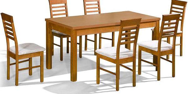 Stůl ORION 2 P + židle P-14 (6ks.) - sestava MM15