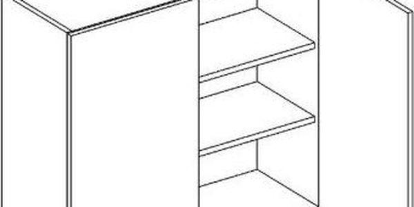 Skříňka horní W80 - SINGIEL blanco