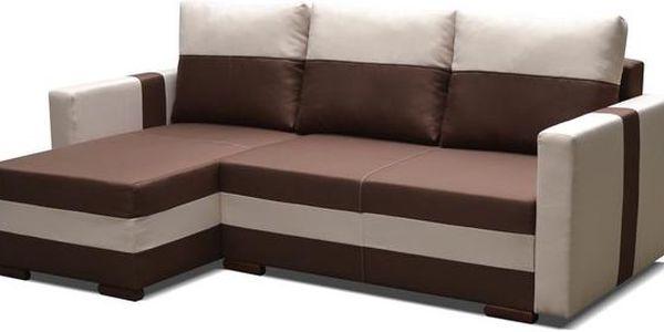 Sedací souprava s úložným prostorem FALCO brown / white