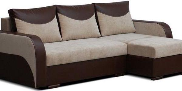 Rohová sedací souprva s úložným prostorem FLO beige