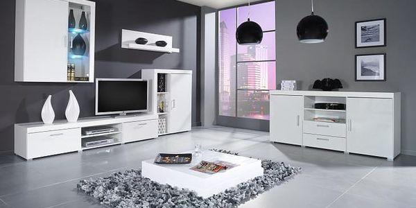 Moderní nábytek SAMBA II sestava C bílý lesk