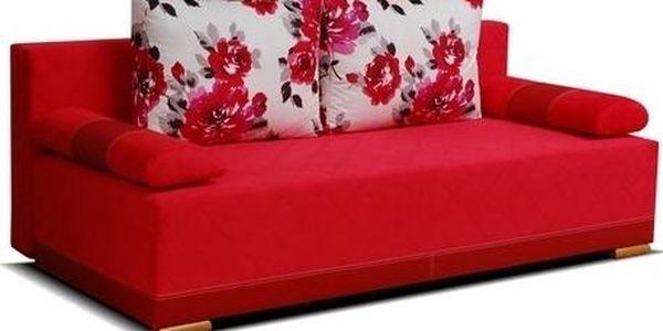 Čalouněná pohovka s úložným prostorem FRIDA red