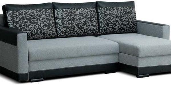 Rohová sedací souprava s úložným prostorem MADERA bright grey