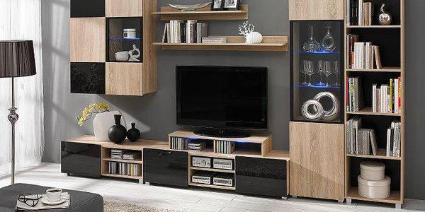 Moderní nábytek do obývacího pokoje GORDIA 2 sonoma