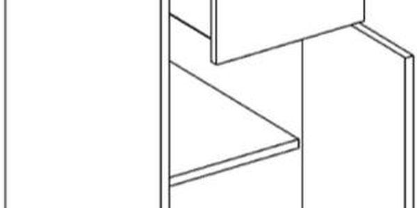 Skříňka dolní D30S/1 P/L - SINGIEL blanco