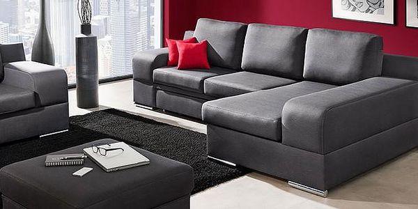 Rohová sedací souprava s funkcí spaní a kontejner pro ložní prádlo CINDY