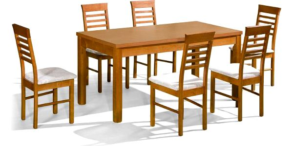 Stůl ORION P + židle P-14 (6ks.) - sestava MM14
