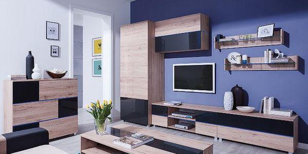 Moderní obývací stěna ADEN - sestava 8