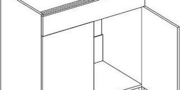 Skříňka dolní D80ZL - Moreno Kaštan / Dub mléčný