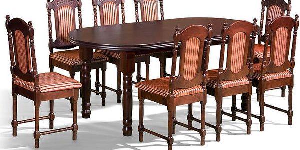 Stůl Baron 1 + židle P-4 (8ks.) - sestava MM24