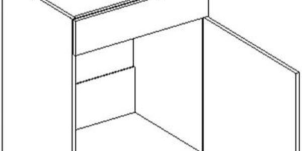 Skříňka dolní D60ZL P/L - SINGIEL blanco