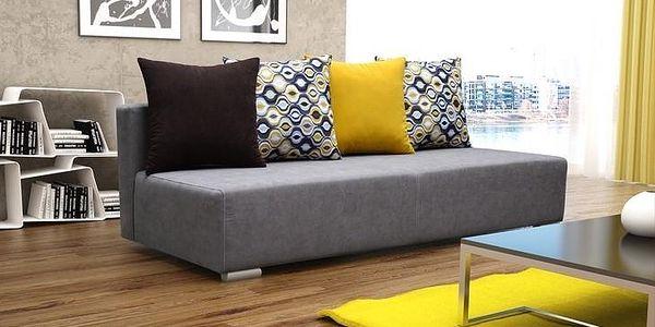 Moderní čalouněná pohovka VIBER bright grey