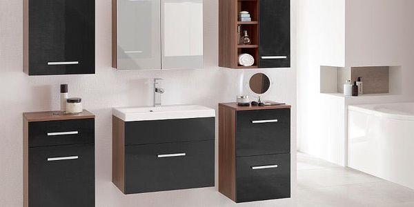 Elegantní koupelna MEGI 11 Švestka/Černý lesk