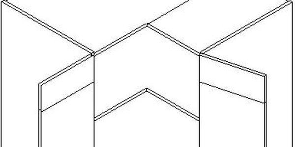 Skříňka dolní DRP P/L - SINGIEL blanco