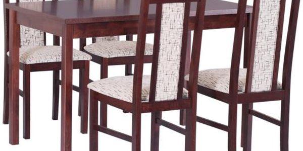 Stůl MAX 11 + Židle BOSS 7 (4ks.) - sestava DX10