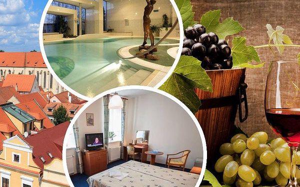 Pobyt v Třeboni ve hotelu Galerie pro 2 s polopenzí, láhev vína na pokoji, vstupenka do lázní Aurora