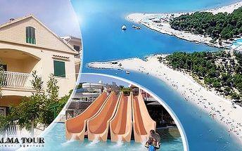 Letní Chorvatsko - Zablače, 8 dní pro 1 osobu v apartmánu poblíž aquaparků a bazénů! Možnost dokoupení dopravy.