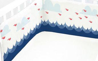 Výstelka do postýlky Whale Ride, 60x60x60 cm