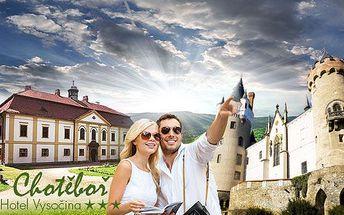 Vysočina: pobyt pro 2 osoby v 3* hotelu na 3, 4 nebo 6 dní s polopenzí! Platnost voucherů až do konce října!
