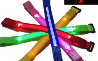 LED svítící pásek na ruku - 5 barevných provedení