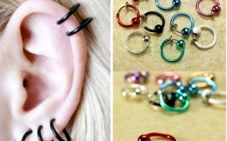 Falešný piercing - kroužek