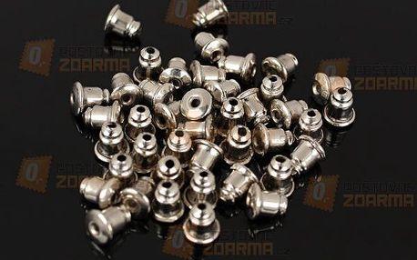 Balení kovových zarážek na náušnice - 40 kusů - dodání do 2 dnů