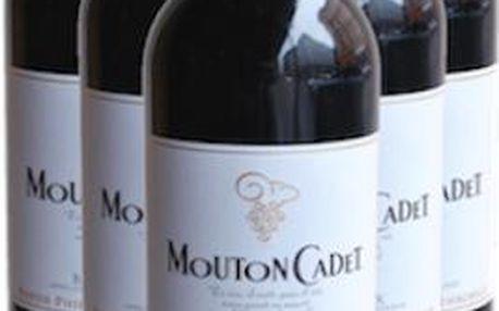 Set červených vín Mouton Cadet Bordeax 2012 - Philippe de Rothschild 5+1 Doprava zdarma