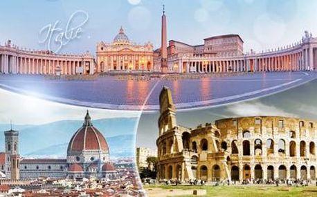 4denní zájezd pro 1 osobu do Itálie s 1x ubytováním a snídaní! Navštivte Vatikán, Řím a Florencii, květen-září.
