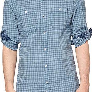 s.Oliver kostkovaná pánská košile M světle modrá