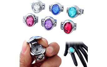 Prstýnkové hodinky s kamínkem