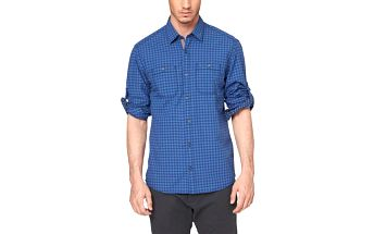 s.Oliver kostkovaná pánská košile M modrá