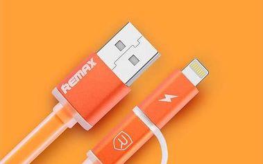 Kabel Remax Aurora MicroUSB - lighting (AA-1147) oranžový